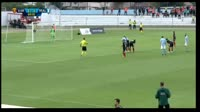 Tigran Barseghyan scores in the match Vardar vs Malmo FF
