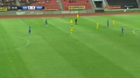 Izair Emini scores in the match Kukesi vs Sheriff Tiraspol