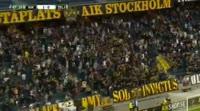 Nils-Eric Johansson scores in the match AIK vs Zeljeznicar
