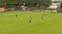 Omer Atzili scores in the match KR Reykjavik vs Maccabi Tel Aviv