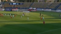 Sebastian Ghinga scores in the match Sepsi vs Juventus Bucuresti