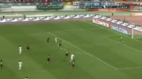 Nikica Jelavic scores in the match Guizhou Zhicheng vs Hebei China Fortune