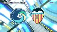 Eric Calvillo scores in the match Valencia vs New York Cosmos