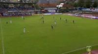 Oliver Markoutz scores in the match Hartberg vs Floridsdorfer AC Wien