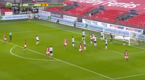 Brest Chateauroux goals and highlights