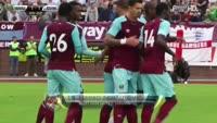 Marko Arnautovic scores in the match Werder Bremen vs West Ham