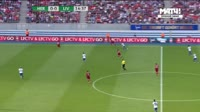 Dominic Solanke scores in the match Hertha Berlin vs Liverpool