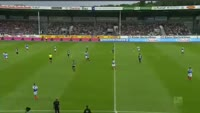 Steven Lewerenz scores in the match Holstein Kiel vs Sandhausen