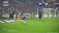 Vincent Aboubakar scores in the match FC Porto vs Dep. La Coruna