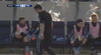 Sorin Vasili Anghel scores in the match Trepca 89 vs Vikingur