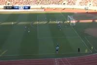 Solvi Vatnhamar scores in the match Trepca 89 vs Vikingur