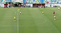Viktor Gyokeres scores in the match Georgia U19 vs Sweden U19
