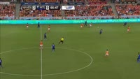 Memo Rodriguez scores in the match Houston Dynamo vs Montreal Impact