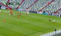 Ben Brereton scores in the match England U19 vs Netherlands U19