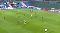 Etienne Amenyido scores in the match Germany U19 vs Bulgaria U19