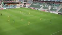 Mihkel Ainsalu scores in the match Flora vs Domzale