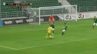 Ivan Firer scores in the match Flora vs Domzale