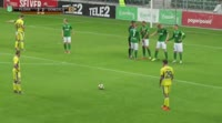 Jure Balkovec scores in the match Flora vs Domzale