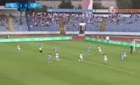 Jakub Mares scores in the match Slovan Bratislava vs Pyunik Yerevan