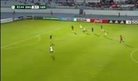Ryan Sessegnon scores in the match England U19 vs Germany U19