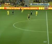 Dino Ndlovu scores in the match Sheriff Tiraspol vs Qarabag Agdam