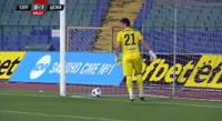 Ruben Pinto scores in the match Septemvri Sofia vs CSKA-Sofia