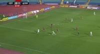 Ishmael Baidu receives a yellow card in the match Septemvri Sofia vs CSKA-Sofia