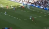 Sergio Aguero scores in the match Brighton vs Manchester City