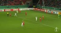Max Kruse scores in the match Wurzburger Kickers vs Werder Bremen