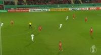Maximilian Eggestein scores in the match Wurzburger Kickers vs Werder Bremen