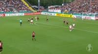 Marcel Sabitzer scores in the match Dorfmerkingen vs RB Leipzig