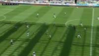 Jonjo Shelvey receives a red card in the match Newcastle Utd vs Tottenham