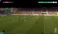 Halil Savran scores in the match VfL Osnabruck vs Hamburger