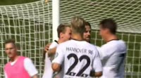 Martin Harnik scores in the match Bonner vs Hannover
