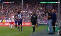 Marc Heider scores in the match VfL Osnabruck vs Hamburger