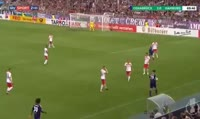 Ahmet Arslan scores in the match VfL Osnabruck vs Hamburger