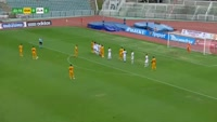 Ondrej Kusnir scores in the match Dukla Prague vs Zlin