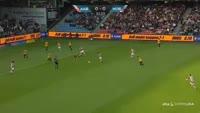 Kasper Risgard scores in the match Aalborg vs Hobro