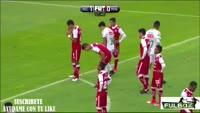 Martin Barragan scores in the match Necaxa vs Zacatecas Mineros