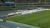 Samuel Souprayen scores own goal in the match Verona vs Napoli