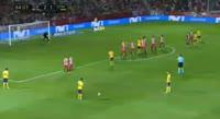 Girona 2-2 Atlético Madrid - Golo de J. Giménez (85min)