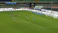 Faouzi Ghoulam scores in the match Verona vs Napoli