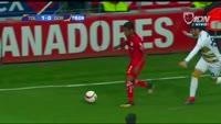 Enrique Triverio scores in the match Toluca vs Dorados de Sinaloa