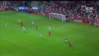 Carlos Esquivel scores in the match Toluca vs Dorados de Sinaloa