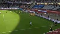 Hjortur Hermannsson scores own goal in the match Aarhus vs Brondby
