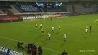 Mikkel Rask scores in the match Aarhus vs Brondby