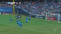 Teal Bunbury scores in the match New York City vs New England Revolution