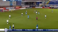 Kyriakos Kivrakidis scores in the match Atromitos vs Smyrnis