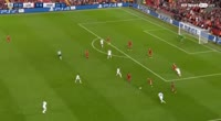 Mark Uth scores in the match Liverpool vs Hoffenheim