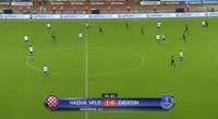 Gylfi Sigurdsson scores in the match Hajduk Split vs Everton